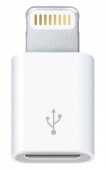 Адаптер Apple MD820ZM/A microUSB-Lightning белый для Apple iPhone 5/5c/5S для Apple iPad 4/mini (MD820ZM/A)