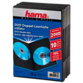 Коробка Hama H-51184 Slim Double-Box для DVD 10 шт. пластик черный