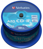 Диск CD-R Verbatim 700Mb 48x Cake Box (50шт) (43343)