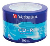 Диск CD-R Verbatim 700Mb 52x Cake Box (50шт) (43728)