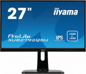 "Монитор Iiyama 27"" XUB2792QSU-B1 черный IPS LED 5ms 16:9 DVI HDMI M/M матовая HAS Pivot 350cd 178гр/178гр 2560x1440 D-Sub FHD USB"