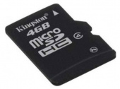 Флеш карта microSDHC 4Gb Class4 Kingston SDC4/4GB + adapter