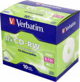 Диск CD-RW Verbatim 700Mb 12x Jewel case (10шт) (43148)